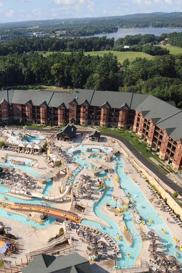 Lost World Waterpark at Glacier Canyon Lodge in Wisconsin Dells. Lost World Waterpark at Glacier Canyon Lodge in Wisconsin Dells