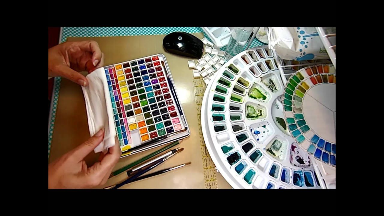 Diy Travel Watercolor Palette Made From Pencil Tin 이미지 포함