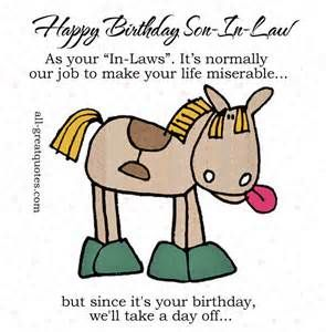 Birthday Quotes Son In Law