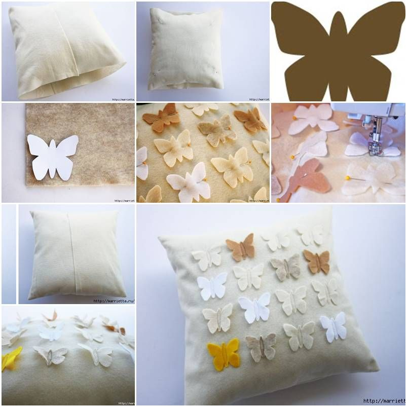 Making Pillow Covers Classy How To Make Butterfly Down Pillow Cover Stepstep Diy Tutorial Design Inspiration