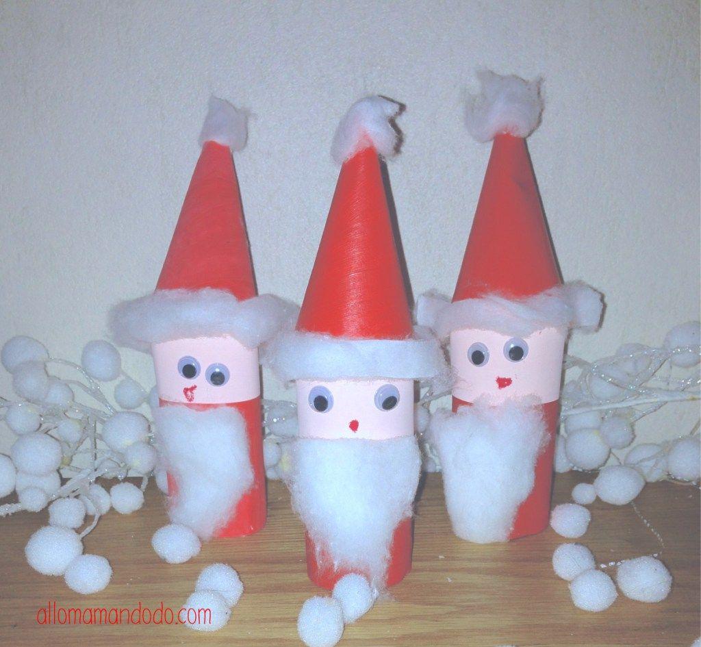 DIY Père Noël, super activité pour les enfants! (rouleau