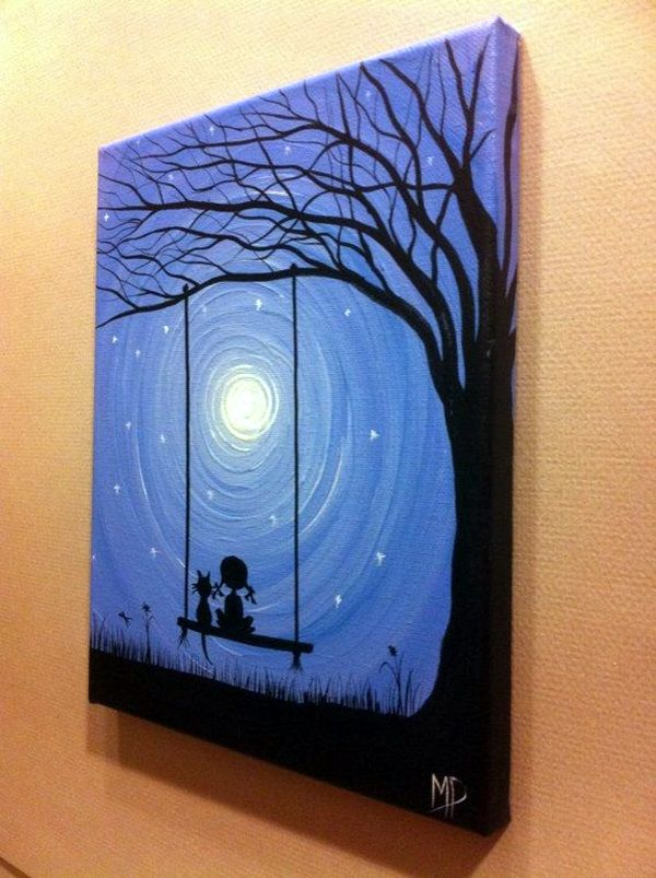 Ideas For Painting Interesting 30 More Canvas Painting Ideas  Canvas Paintings Canvases And Inspiration Design