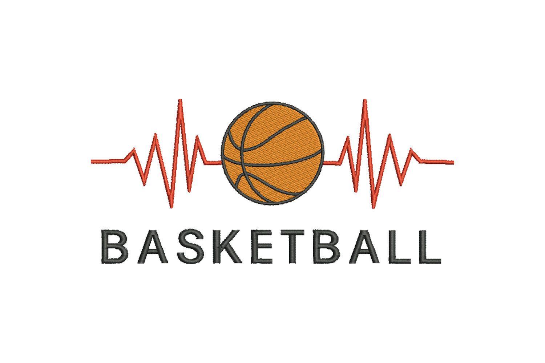 Stickdatei Basketball Herzschlag Clipart Cartoon 13x18 Cm Etsy Basketball Ein Basketball Maschinenstickerei