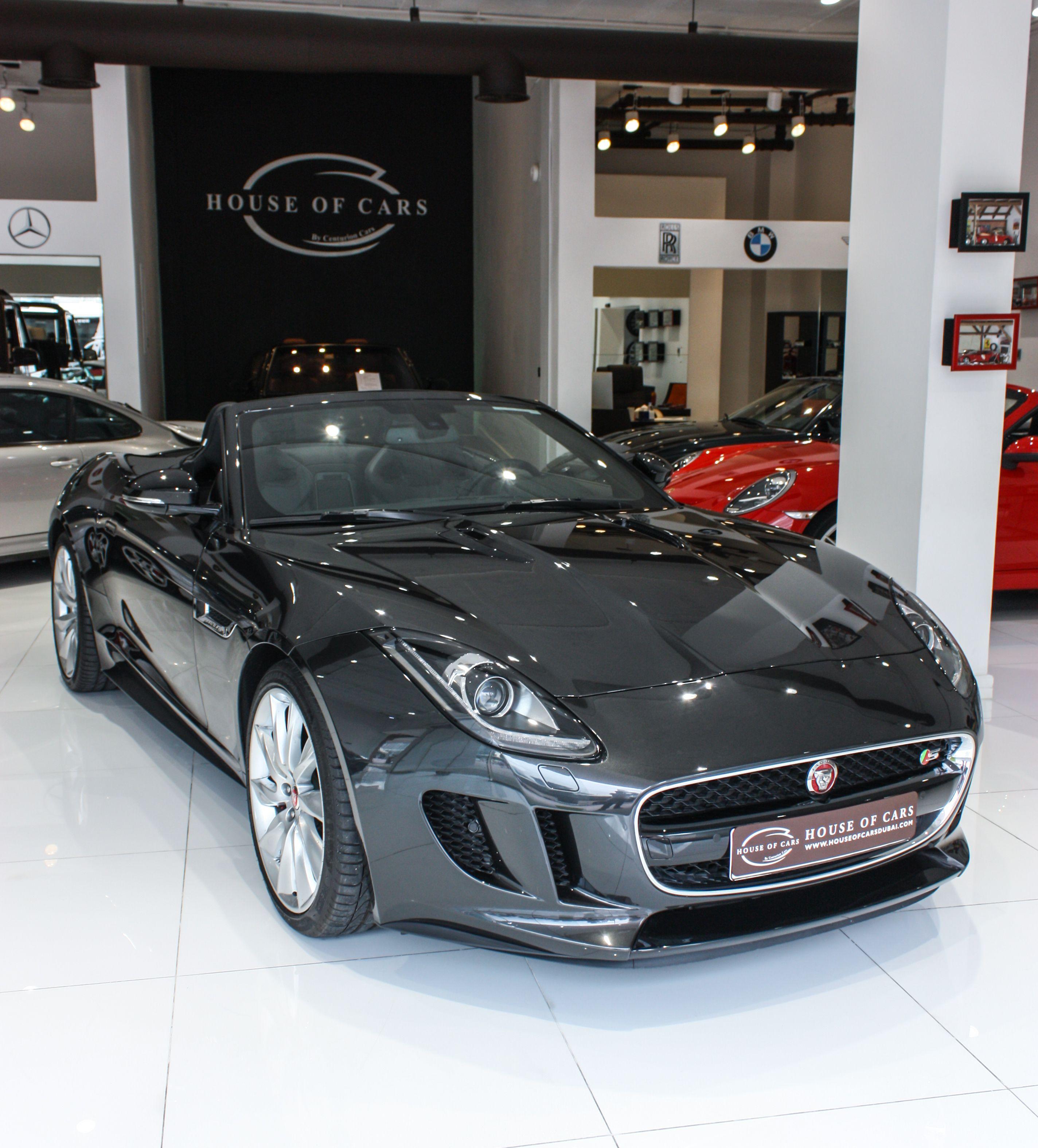 Jaguar F-Type S V8 Convertible 2015 | Brand New | Full Option | Price - 399,950 AED | http://bit.ly/1JR0YJh