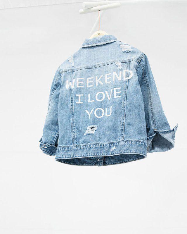 15 id es pour customiser une veste en jean sew crochet pinterest denim jackets and kids. Black Bedroom Furniture Sets. Home Design Ideas