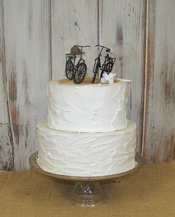 Bicycle Cake Topper Nature Lovers By Sugarplumcottage