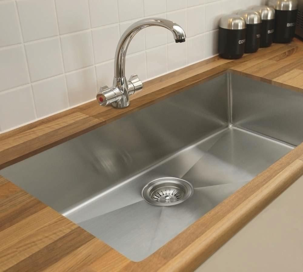 kitchen: undermount kitchen sinks with slightly curved corners kb