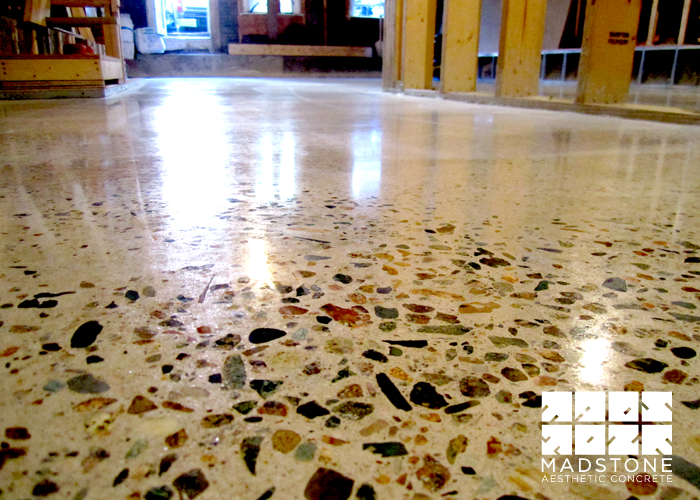 Exposed aggregate concrete floor the concrete tower for Exposed concrete floor