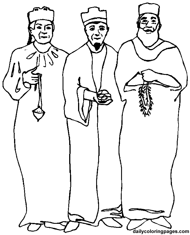 Three wise men christmas coloring pages 10