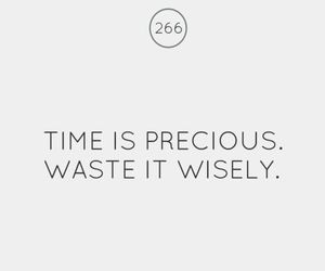 time is precious - waste it wisely