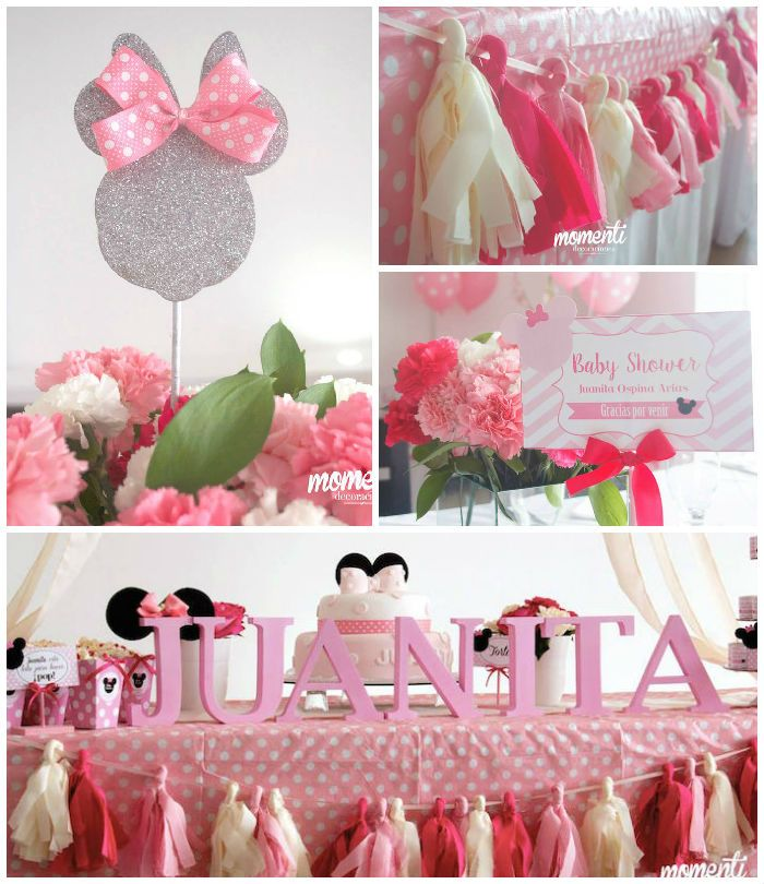 Charming Minnie Mouse Baby Shower Via Karau0027s Party Ideas | Cake, Decor, Banners,  Favors
