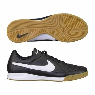 Nike Tiempo Genio Leather Indoor Soccer Shoes Black Soccer Shoes Black Shoes Shoes