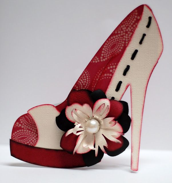 Paper Creations By Kristin High Heel Shoe Card Paper Shoes Shaped Cards Shoe Template
