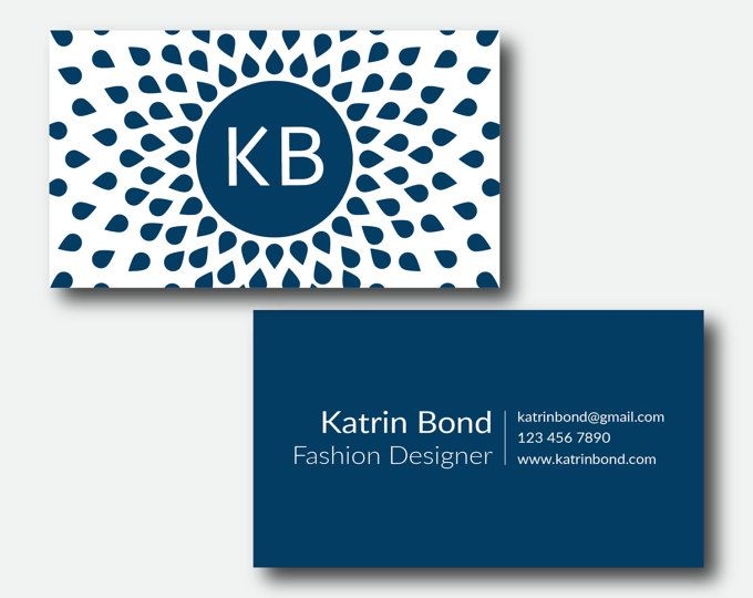Business Card Template Calling Cards By GMBusinesscard On Etsy - Online business card templates