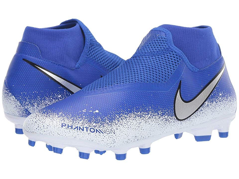 Nike Phantom Vsn Academy Df Mg Men S Soccer Shoes Racer Blue Chrome White Nike Soccer Shoes Nike Football Boots Nike