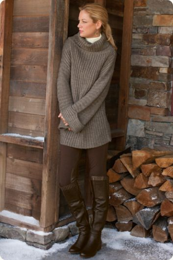 Stretch riding pant, snuggly sweater