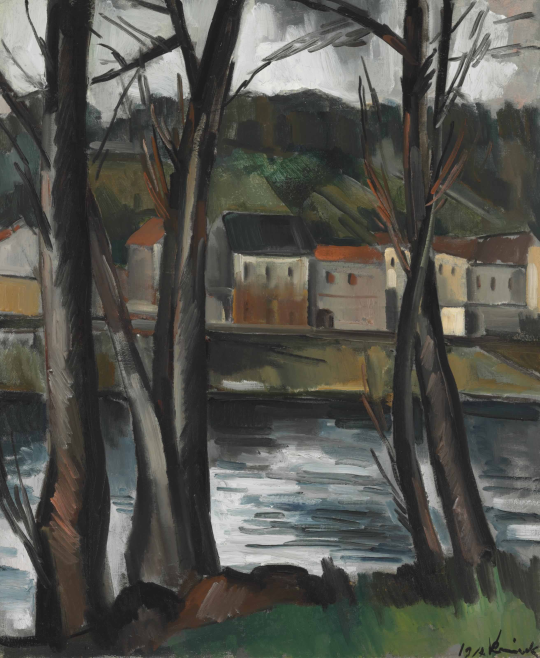 Maurice de Vlaminck (France 1876-1958) Paysage (1914) oil on canvas 65 x 54.1 cm