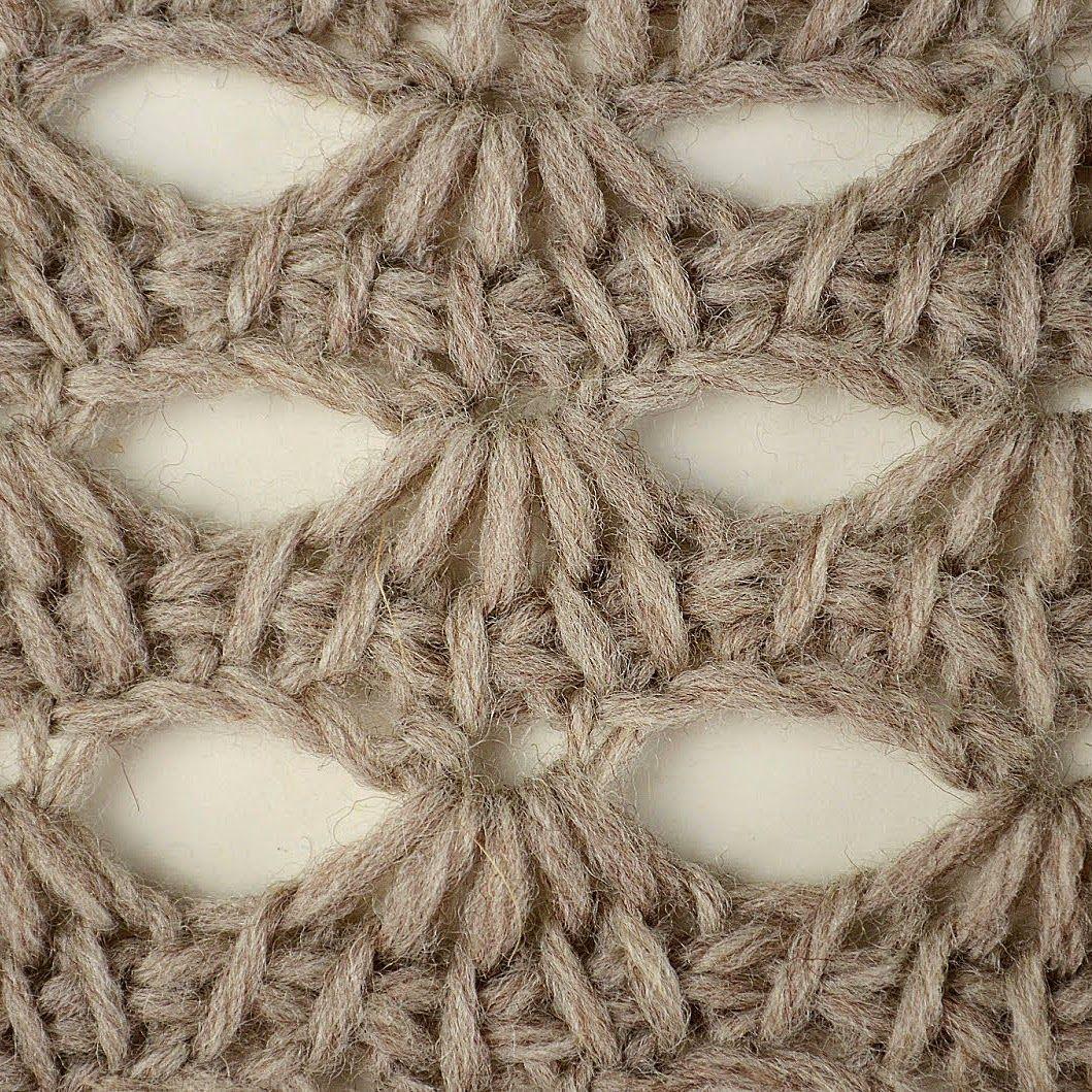 Tunisian Scallop Lace Pattern (Tunisian Crochet) | Puntos
