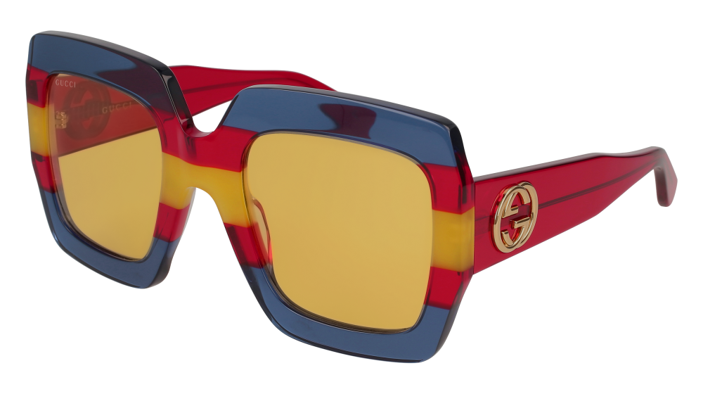 fcef44ec2d5 Gucci - GG0178S-002 Multicolor Red Sunglasses   Brown Lenses ...