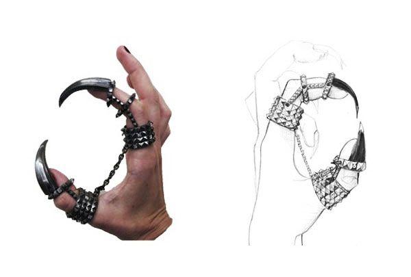 Solange Azagury-Partridge's 'Heart Plucker' ring for Queen Ravenna in 'Snow White & the Huntsman.'
