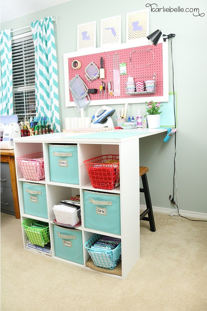 Easy DIY Craft Table and Peg Board | Making Home Pretty | Pinterest