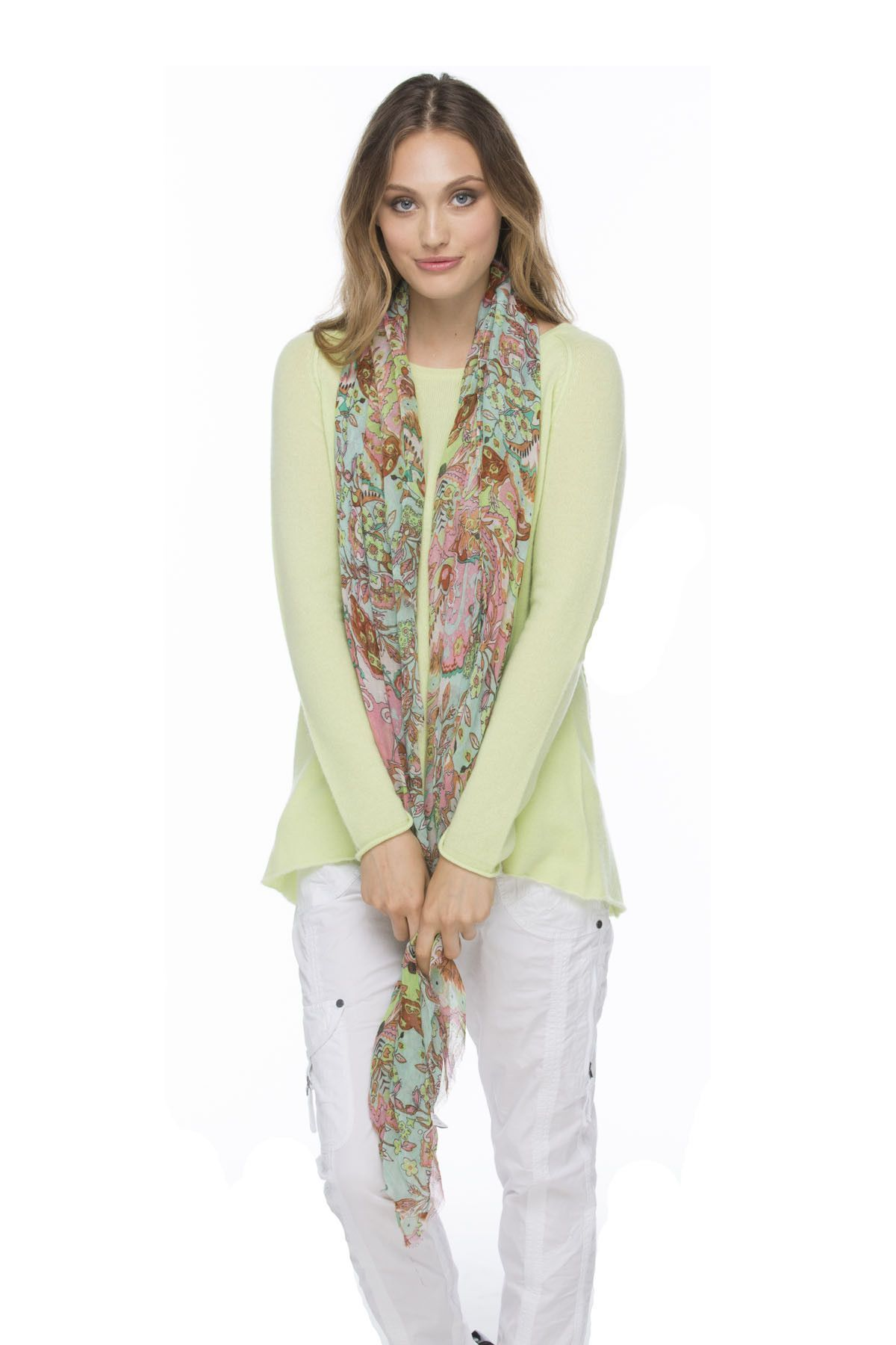 Indian Summer Printed Scarf in Mint