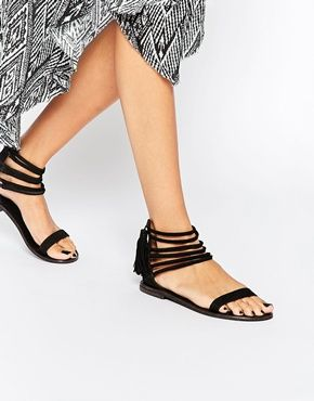 Buy Women Shoes / Asos Family Tree Suede Flat Sandals
