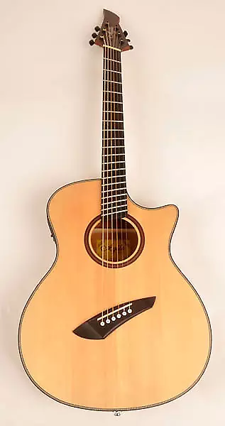 Agile 6 String FanFret Multi-Scale Acoustic / Electric Guitar Renaissance 62527 EQ NA | Rondo Music | Reverb
