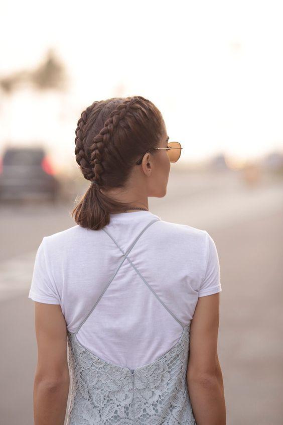 Trenzas bonitas para cabello cortito  – Peinados