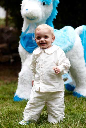 Dress your page boy in this gorgeous white outfit from Little Bevan!