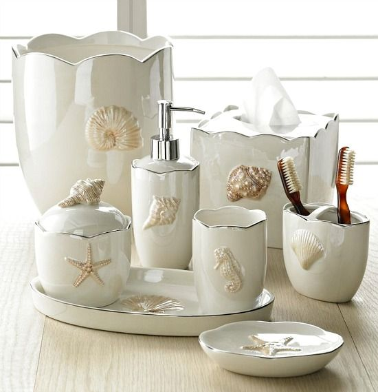 Decorate Your Bathroom With These Beach Themed Accessories With