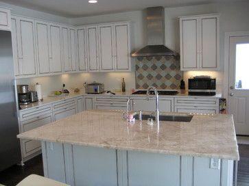 Cristallo Quartzite Kitchen Island With White Cabinets Visit Globalgranite For Your Natural Stone Needs
