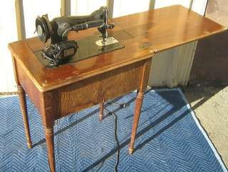 ANTIQUE 1940S SIMANCO SINGER SEWING MACHINE U0026 CABINET