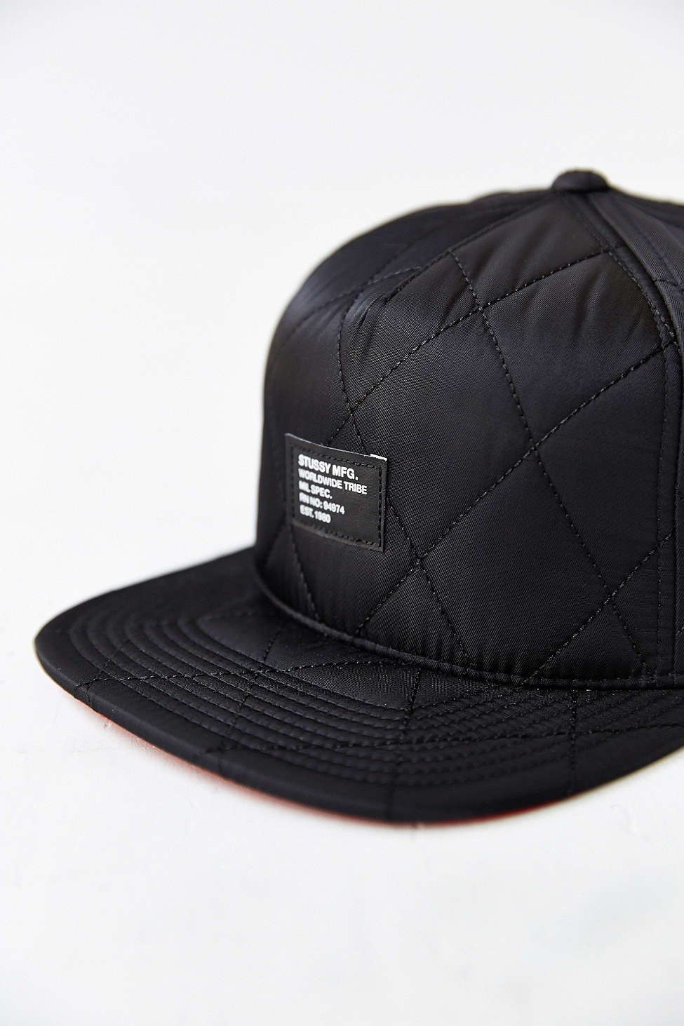 Stussy Quilted Foam Snapback Hat Soletopia Snapback Hats Hats For Men Hats
