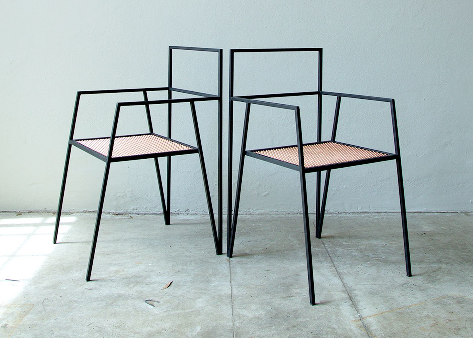 minimal furniture. alpina furniture by ries is made from minimal steel shapes n