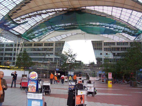 Outside Munich Airport Munich Airport Places Around The World