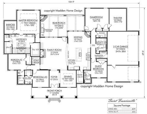 The St Francisville Madden Home Design