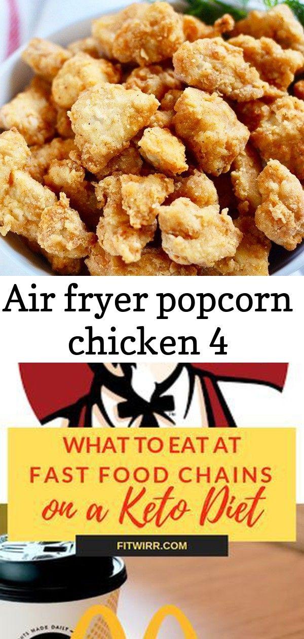 Air fryer popcorn chicken 4 Popcorn chicken, Keto fast