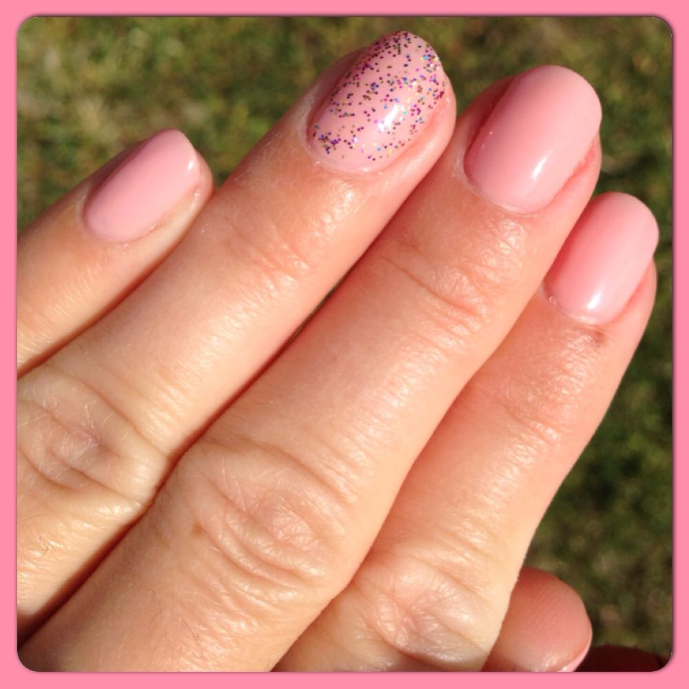 Light pink with a little sparkle nails pinterest