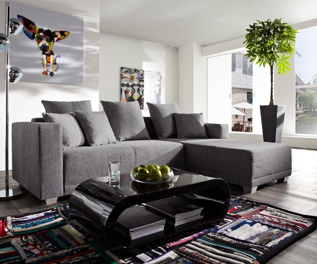 ecksofa phlox 250x180 cm grau inklusive schlaffunktion sofatr ume wohnzimmer wohnzimmer. Black Bedroom Furniture Sets. Home Design Ideas