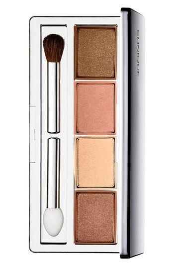 CLINIQUE COLOR SURGE EYESHADOW QUAD--these are the perfect colors for BLUE eyes, makes the color POP!