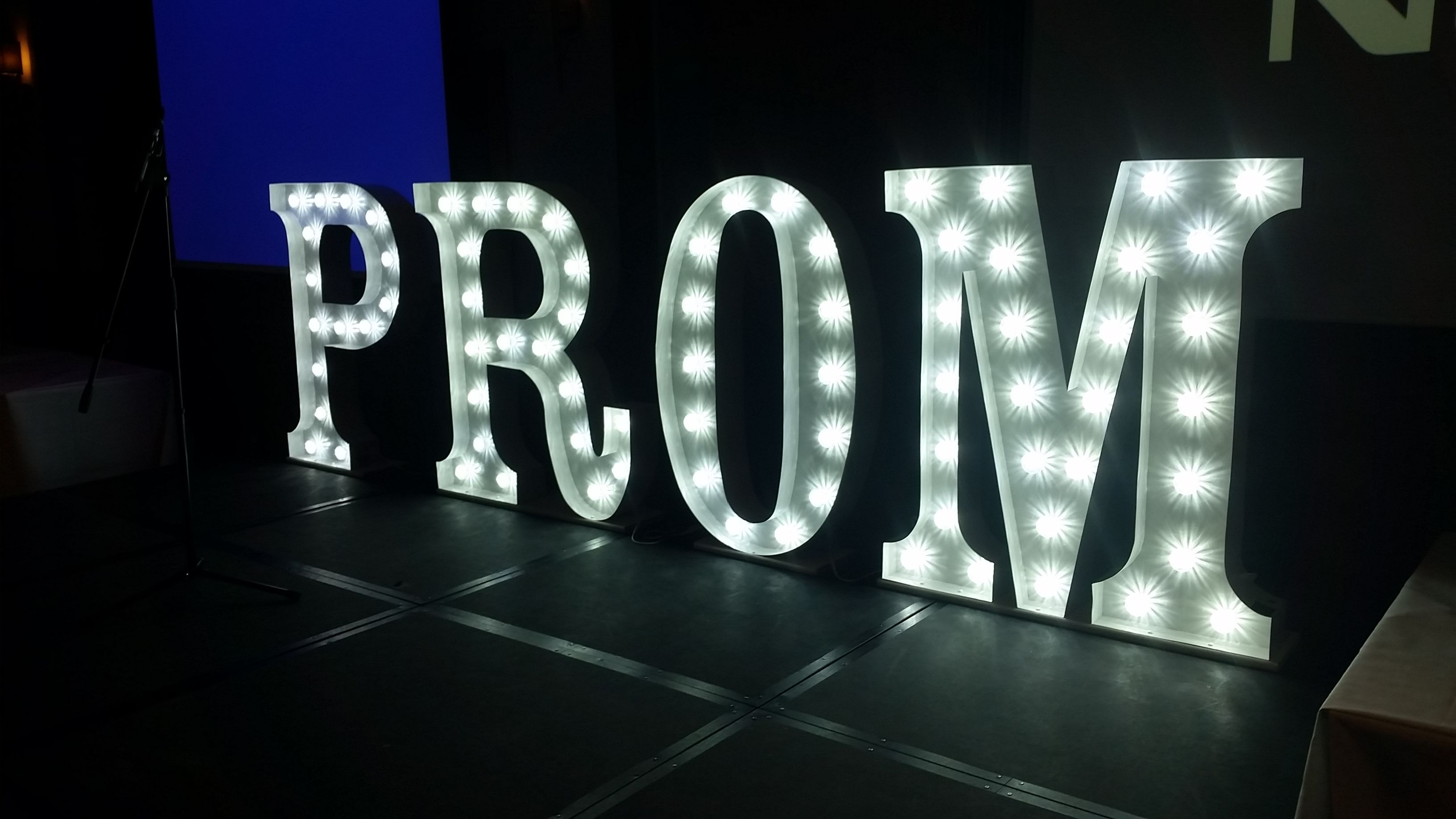 book your light up prom letters for your prom next summer With prom light up letters
