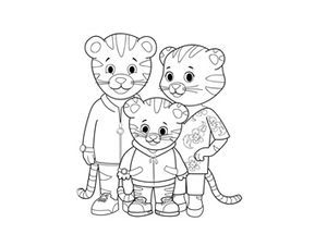Coloriages Daniel Tiger Birthday Coloring Pages Daniel Tiger