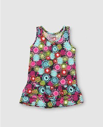 b91fdaad5 Vestido de niña Boboli con estampado de flores | Chiquitina's ...