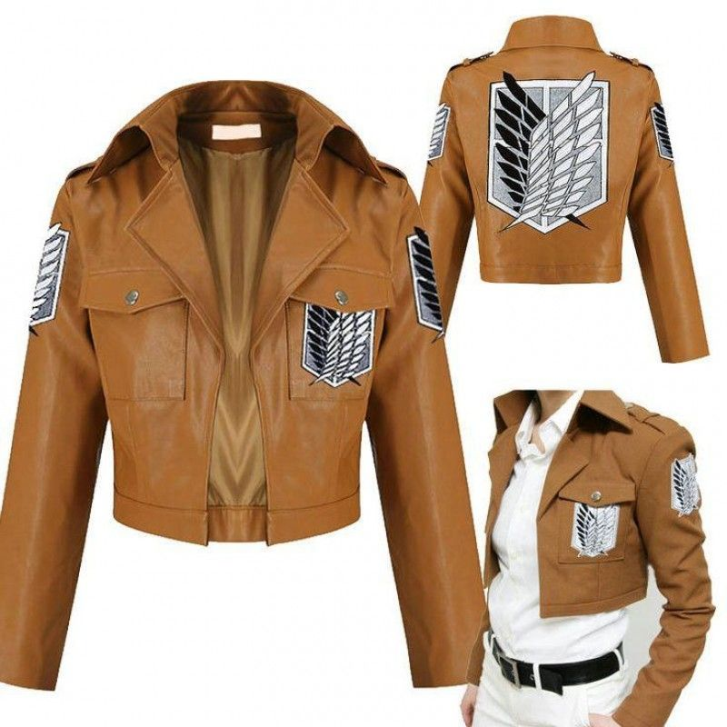 Attack on Titan Shingeki no Kyojin Scouting Legion Jacket Coat Cosplay Costume