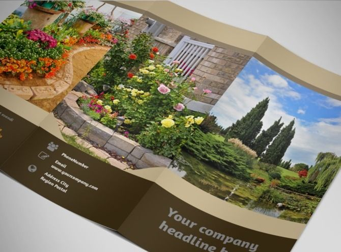 Landscape Design Tri Fold Brochure Template, great look, love the - landscape brochure