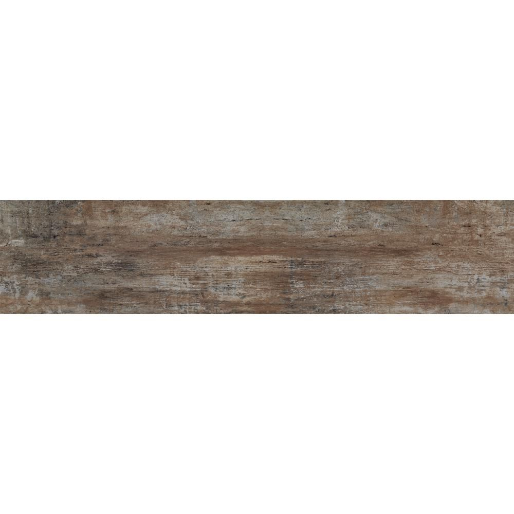 Florida Tile Home Collection Woodshop Umber 8 in. x 36 in ...