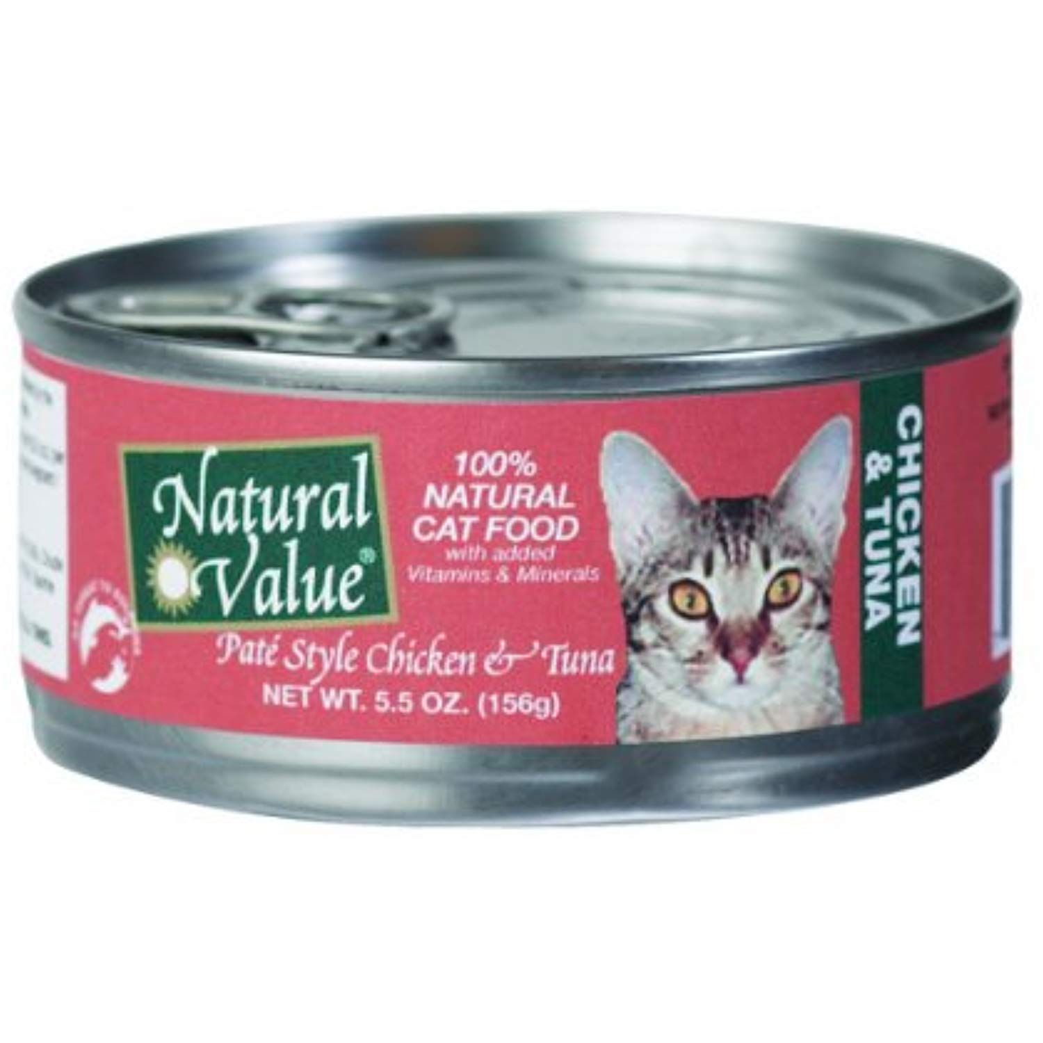 Natural Value Pate Style Chicken And Tuna Cat Food 5 5 Ounce Cans