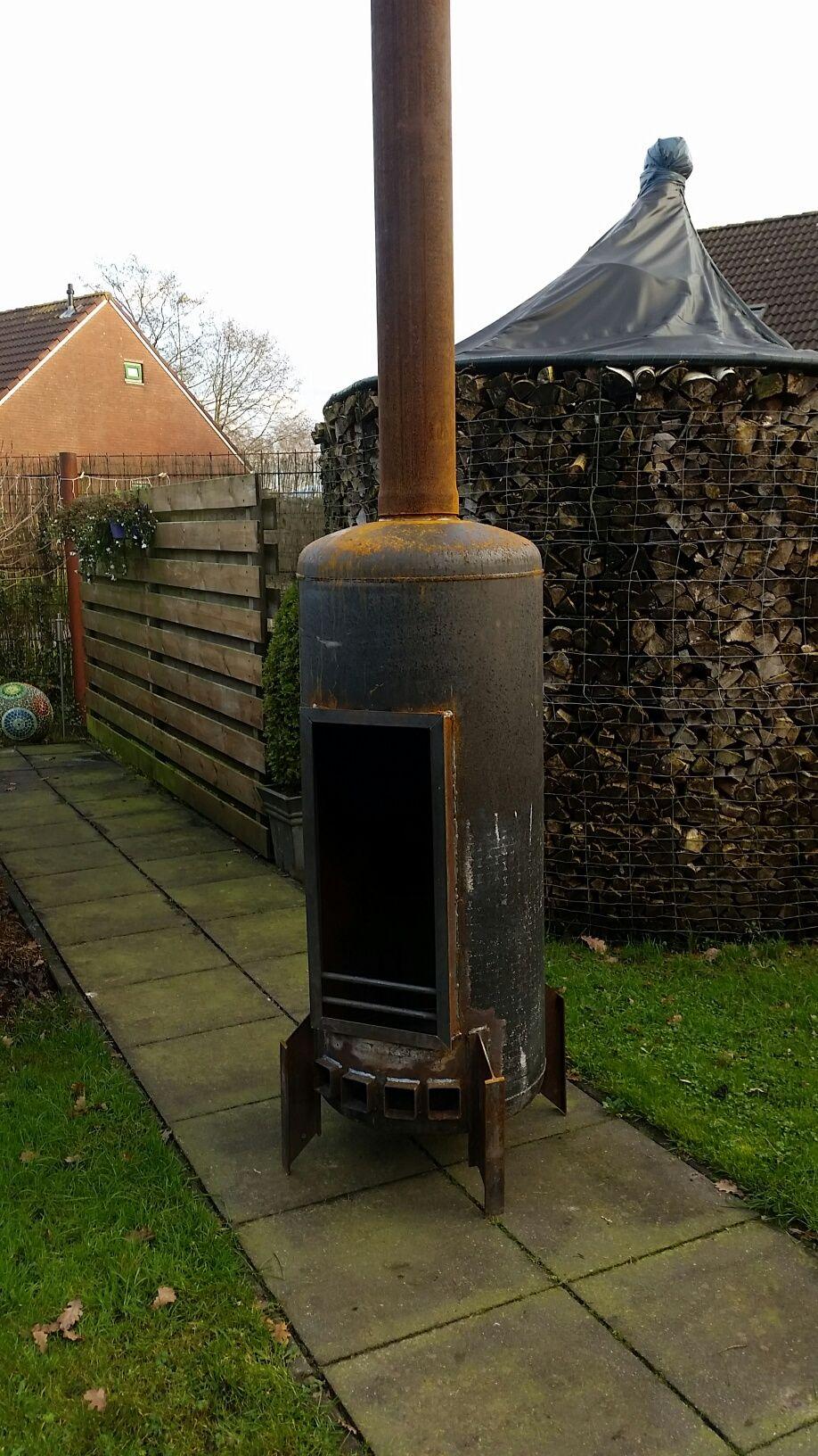 Bedwelming zelf vuurkorf maken van een boiler - Google zoeken | Voor de tuin #UI14