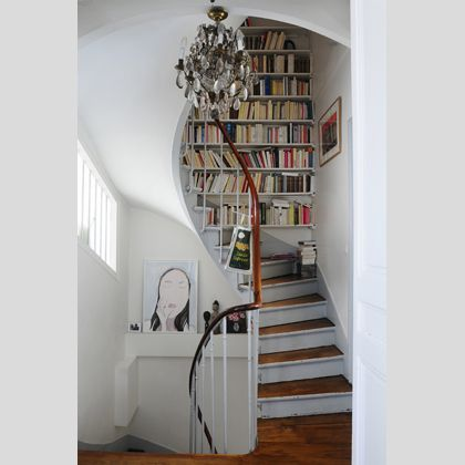 biblioth que escaliers library pinterest biblioth que escalier escaliers et idee deco. Black Bedroom Furniture Sets. Home Design Ideas